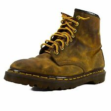 Doc Martens Air Wair Boots Size 6 Brown Ankle Boot Airwair Martin Distressed