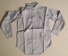RALPH LAUREN BOYS PINPOINT OXFORD SHIRT 8, 14, 20 T RRP £55 NOW £29.50