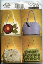 HandBags - Vogue Sewing Pattern for Purse with Variations - NEW
