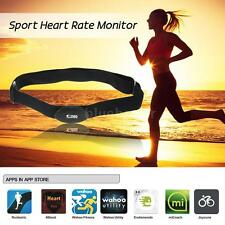 Bluetooth 4.0 Wireless Sport Heart Rate Monitor Chest Strap Band Android E1Z8