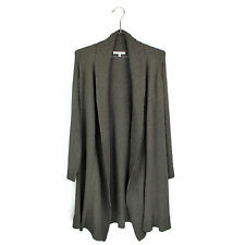 Cabi Cardigan M Perfect Sweater Open Front Shawl Sweatercoat Duster Boho Brown