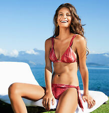 VIX TUNISIA RED SNAKE-PRINT BIKINI MEDIUM