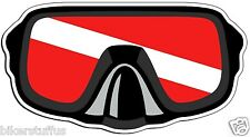 SCUBA DIVER DOWN FLAG MASK HELMET STICKER BUMPER STICKER LAPTOP STICKER