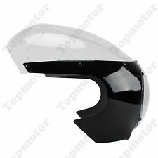 "5 3/4"" Cafe Racer Drag Racing Headlight Fairing & Clear Windshield Motorcycle"