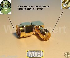 1 x SMA Male to SMA Female Right Angle L TYPE RF Adapter Connector USA