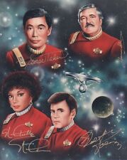 STAR TREK ORIGINAL CAST Signed 10x8 Photo TAKEI, NICHOLS, KOENIG, DOOHAN COA