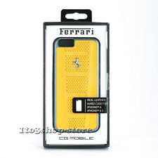 Ferrari Perforated Leather Hard Case Snap Cover for iPhone 6 iPhone 6s (Yellow)