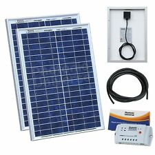 40W (20W+20W) solar charging kit for 12V/24V battery motorhome, caravan, boat