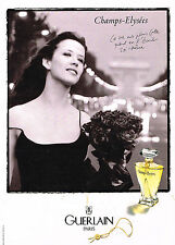 PUBLICITE ADVERTISING 104  1997  GUERLAIN  SPHIE MARCEAU aux Champs-ELYSEES par