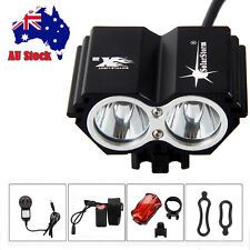 SolarStorm 6000Lm 2x CREE XM-L T6 LED Bicycle Bike HeadLight Head Tail Light Set