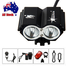 SolarStorm 6000Lm 2x CREE XM-L T6 LED Bicycle Bike HeadLight Head Tail Light AU
