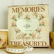 Vintage Hydrangea Photo Memory Box-Vintage Flower Wooden Keepsake Box- Photo Box