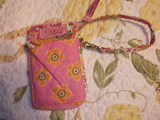 New Longaberger Sisters Truly Cell Phone Case Pink Vera Bradley quilted wallet