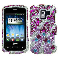 For LG Optimus Zip L75C Crystal Diamond BLING Case Phone Cover Star Cluster