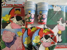 FARM FRIENDS - Birthday Party Supply Pack Kit Set 16 w/ Treat Bags