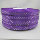New hot 10 Yards Charm 3/8 9mm Polka Dot Ribbon Satin Craft Supplies  Purple