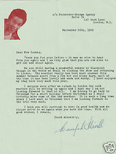 Winifred Atwell Trinidadian Pianist  Hand signed Headed Letter 1966
