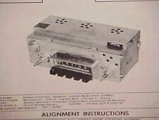 1962 RENAULT DAUPHINE CARAVELLE FLORIDE S CONVERTIBLE AM RADIO SERVICE MANUAL 62
