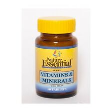 VITAMINAS & MINERALES CON HIERRO 600MG 60TABS NATURE ESSENTIAL - Vitaminas