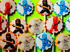 30 NINJAGO NINJA Cupcake Toppers, Birthday Party Favors 30