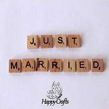 Wooden Letter Magnet Word Just Married