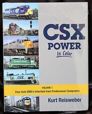 MORNING SUN BOOKS - CSX POWER In Color Volume 1 - HC - 128 Pages All Color