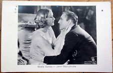 1933 Realphoto Movie Star Postcard: Greta Garbo & John Barrymore - Actress/Actor