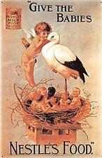 Nestlé Give the Babies Blechschild, 40 x 60 cm, gewölbt & Motiv geprägt