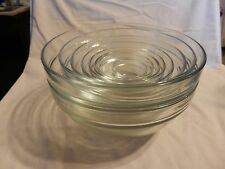 Set of 9 Clear Glass Nesting Mixing Bowls from Duralex France