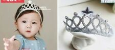 Tiara/crown baby headband-silver