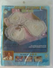 New Paragon Shadow Stitching Burp Pad and Bib Kit Easy! Sealed! NOS ~1983