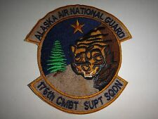 ALASKA AIR NATIONAL GUARD 176th Combat Support Squadron Patch