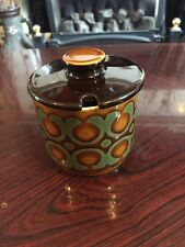 Vintage 70s Hornsea Pottery BRONTE Jam/ Marmelade Covered Pot