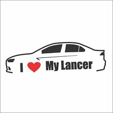 I Love My Lancer Car Bumper Window Vinyl Decal Sticker GTS EVO MR 4B11 Ralliart