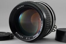 【AB- Exc】 Nikon Ai NIKKOR 85mm f/2 MF Telephoto Prime Lens Caps From JAPAN #2597
