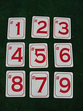 FRONT 9 HOLE MARKER Signs 4 Golf Course Country Club Pro Shop Driving Range
