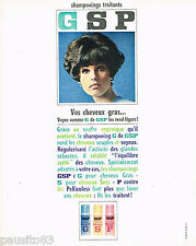PUBLICITE ADVERTISING 075  1966  GSP  shampoing cheveux gras