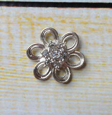 rhinestone flower flatback 20mm set of 5