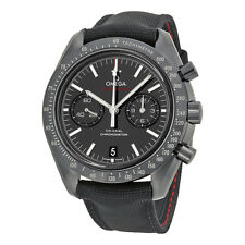 Omega Speedmaster Co-Axial Chronograph Black Dial Black Fabric Mens Watch