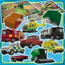 Corgi City Playset includes 8 vehicles, 2 buildings and 2 playmats New