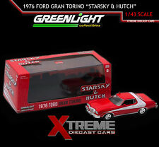 "GREENLIGHT 86442 1:43 1976 FORD GRAN TORINO ""STARSKY AND HUTCH"" TV SHOW W/CASE"