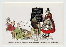 MODERN COMIC POSTCARD - artist Besley, how to pronounce Welsh, Wales costume