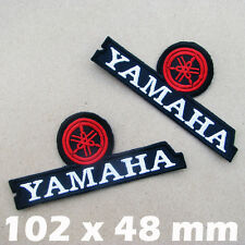 1 x YAMAHA Embroidered Iron On Patch MotoGP Motorcycle Biker Motocross Racing