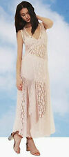 Shakuhachi Pastel Pink Avalon Lace Mash Mesh Dress NEW Size 8 / S RRP $390
