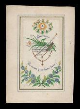 santino manufatto 1800 RICORDO PRIMA COMUNIONE  dip. a mano 1
