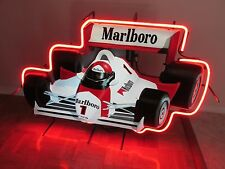 Vintage 1990 Marlboro Formula 1 One Race Car Neon Light Sign Philip Morris RARE