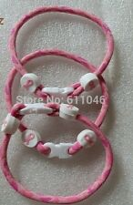 NYLON BREAST CANCER ROPE BRACELET. ALL PROCEEDS GO TO SUSAN G. KOMAN FOUNDATION