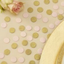 PASTEL PINK & GOLD GLITTER TABLE CONFETTI - Weddings - Party - Hen - Baby Shower