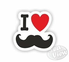I Heart Love Moustache Manillar coche van calcomanía de pegatinas Divertidas pegatina