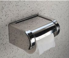 Wall Mounted Bathroom Stainless Steel Toilet Paper Holder Roll Tissue Box Chrome